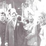 участники лесокомбината на майском параде